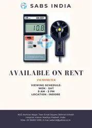 Digital Anemometer on Rent