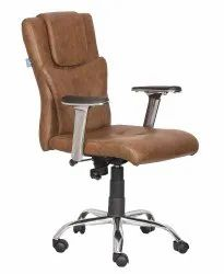 High Back Leatherette Office Chair Brown (VJ-2050)