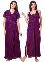 Satin Plain Women Clothing