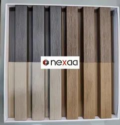 Brown Techno fiber wood Exterior Wall Cladding Panel Louver Type, Thickness: 33mm
