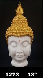 Polyresin Buddha Head Figurine