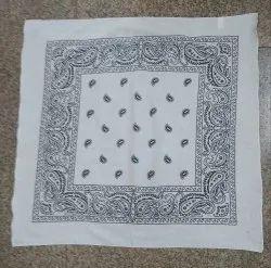 Floral Square Printed Cotton Bandana