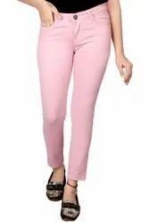 Slim Button Ladies Cotton Stretchable Jeans