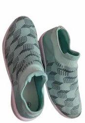 Mint Green Women Slip On Sports Shoes, Size: 6-10