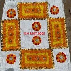 Marigold Flower Mat Set Of 10pc