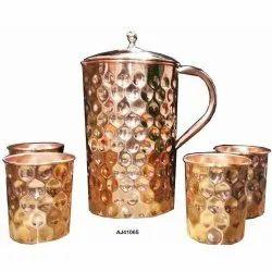 Hammered Copper Jug Set, For Restaurant, Capacity: 2.5 Litre