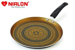 Nirlon Mandala Non Stick Aluminum Flat Tawa 26cm