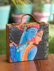 MDF Suitcase Style Clutch Bag