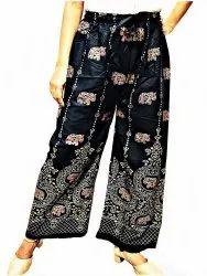 Black Rayon Ladies Pajamas, Free Size