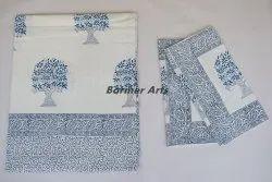 Cotton Hand Block Print Bed Sheets