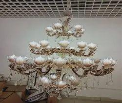Warm White Fluorescent Zinc Alloy Hanging Chandelier
