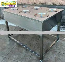 6 Pot Bain Marie Electric + Gas