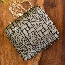 Ladies Silk Brocade Designer clutch