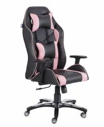 High Back Leatherette Gaming Any Time Chair Black & Pink (VJ-2001)