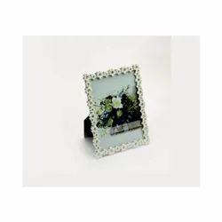 Enameled Single Layer Silver Photo Frame