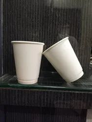 12 Ounce Double Wall White Glass