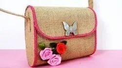 Ladies Jute Jewelry Bag