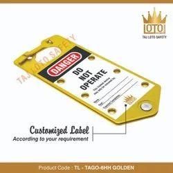 Aluminium Lockout Hasps TL - Tago -6HH Tago- 6 Hole Hasp - Golden, Multipurpose