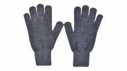 Woolen Grey Winter Gloves