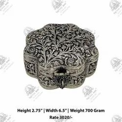 Copper Silver Plated Metal Box, For Home