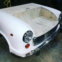 Mild Steel Antique Retro Industrial Car Sofa