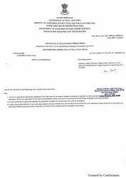 Lmpc Approval / Certificate / Legal Metrology Certificate