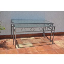 Glass Top Buffet Tables With SS Frames.