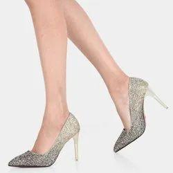 Party Wear Women Stylish High Heels Shoes, Size: 8