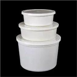 包装印度塑料,纸食品容器,尺寸/尺寸:50毫升 -  1500毫升