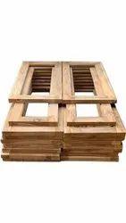3x1.5feet Indian Teak Wood Brown Window Frame