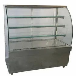 Curve Metal Cooling Counter, 1,5 Unit