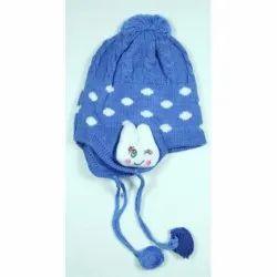 Kids Blue Winter Skull Cap