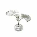 Two Shell Design Silver Platter Stand