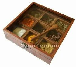 Brown Wooden Spice Box, For Kitchen