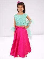 Silk Party Wear Kids Ghagra Choli