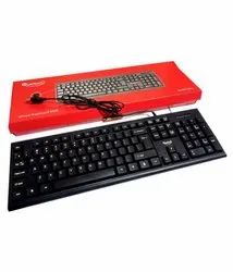 With Wire Black Quantum Wired Keyboard QHM8810, Size: Regular