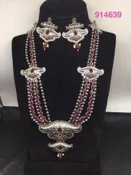 Brass Oxidized Necklace, Wedding, Jewellery Type: Oxodised