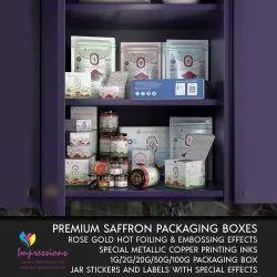 Custom Printed Premium Saffron Packaging Solutions