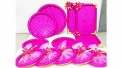 Banarasi Silk Fabric Wedding Tray