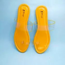 Open Sandal Party Wear Dr. Sole Sunny Yellow, Size: 4 To 9
