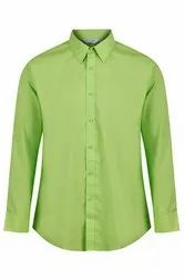 Sungrace Cotton Long Sleeves Easycare Contemporary Shirts Green, Age Group: 14-60