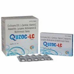 Co-Enzyme Q10 L-Carnitine Vitamin-E Astaxanthin Lycopene Multivitamins & Multiminerals Tablets