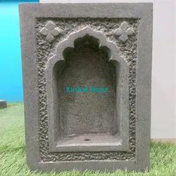 Traditional Devali Konada Niche Artifact From Solid Basalt Stone Handcrafted