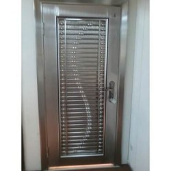 Metal Stainless Steel Security Door, For Residential