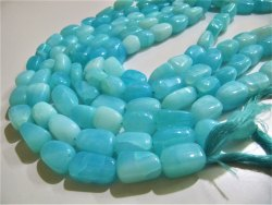 Natural Peruvian Opal Plain Smooth Nugget Tumbled Beads 10 to 20mm Strand 8 Inches Long