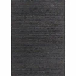 Handloom Charcoal Multi Chevron Stripe Wool Area Rug And Carpets