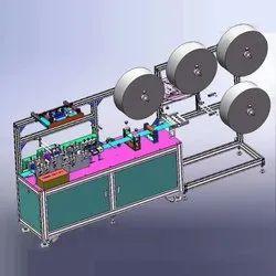 Fully Auto One-Time Forming Elastic Earloop Mask Machine Wide Ear Loop Gentle And Comfortable