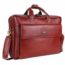 Hammonds Flycatcher Genuine Leather Brown 15.6 inch Dual Compartment Laptop Messenger Bag