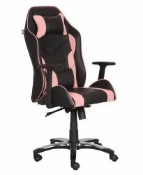High Back Leatherette Gaming Any Time Chair Black & Light Pink (VJ-2023)