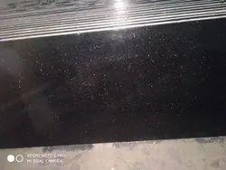 Slab Black Galaxy Granite, Thickness: 15-20 mm